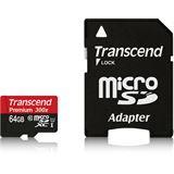 64 GB Transcend Premium microSDXC Class 10 Retail inkl. Adapter
