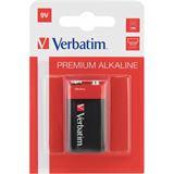 Verbatim 6LR61 Alkaline E Block Batterie 9.0 V 1er Pack