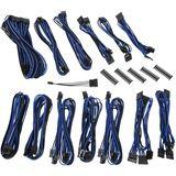 BitFenix Alchemy 2.0 PSU Cable Kit, SSC-Series - schwarz/blau