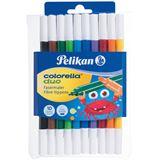 Pelikan Fasermaler Colorella Duo dick+dünn C407 10Stifte sor