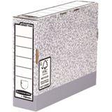 Fellowes BANKERS BOX SYSTEM Archiv-Schachtel, grau, (B)80 mm