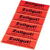 """smartboxpro Hinweis-Etikettenrolle """"Zollgut!"""""""
