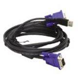 (€7,19*/1m) 1.80m D-Link KVM Anschlusskabel VGA 15pol Stecker + USB A Stecker auf VGA 15pol Stecker + USB B Stecker Schwarz