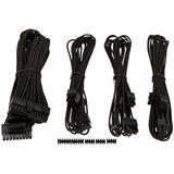 Corsair Premium Sleeved Kabel-Set - schwarz