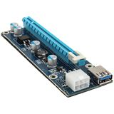 Kolink International PCI-E 1x auf 16x powered Riser Card Mining/Rendering-Kit Pro - 1m