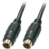 (€1,59*/1m) 5.00m Lindy S-VGA Anschlusskabel Mini-DIN 4pol Stecker auf Mini-DIN 4pol Stecker Schwarz geschirmt / Premium / vergoldet
