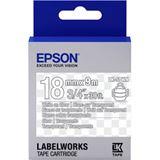 Epson TAPE - LK5TWN CLEAR weiß