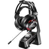 ADATA XPG EMIX H30 Gaming Headset + SOLOX F30 Verstärker schwarz/rot