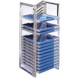 Hama CD-Office-Rack Nexus 20 silber Tischständer für Archivierung (00051136)