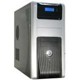 ATX Midi Inter-Tech 9901 Silencer LCD schwarz/silber (inkl. 420W)