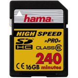 16 GB Hama Video SDHC Class 6 Bulk