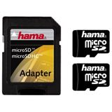 2 GB Hama Standard microSD Class 2 Bulk inkl. Adapter