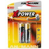 ANSMANN X-Power LR6 Alkaline AA Mignon Batterie 1.5 V 2er Pack