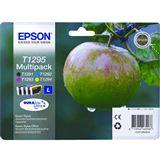 Epson T1295 Tintenpatrone schwarz und dreifarbig hohe Kapazität 11.2ml- 3 x 7ml 4er-Pack DURABrite Ultra Ink Ret.Pack(untagged)RF T