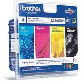 Brother Tinte LC1100HY Value Pack LC-1100HYVALBP schwarz, cyan, magenta, gelb