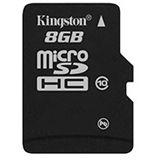 8 GB Kingston Standard microSDHC Class 10 Bulk