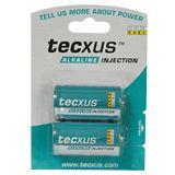 Tecxus Batterie Alkali Baby C, 2er Folie