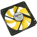SilenX Effizio Quiet Fan Series 120x120x25mm 1100 U/min 12 dB(A) schwarz/gelb