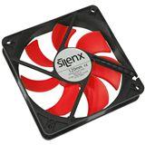 SilenX Effizio Quiet Fan Series 120x120x25mm 1400 U/min 15 dB(A) schwarz/rot