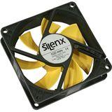 SilenX Effizio Quiet Fan Series 100x100x25mm 1200 U/min 12 dB(A) schwarz/gelb