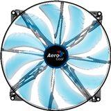AeroCool Silent Master 200x200x20mm 800 U/min 18 dB(A) schwarz/blau/transparent
