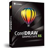 Corel CorelDraw Graphics Suite X6 32/64 Bit Deutsch Grafik FPP PC (DVD)