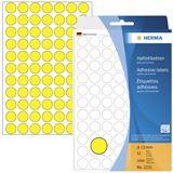 Herma 2231 gelb rund Vielzwecketiketten 1.3x1.3 cm (32 Blatt (2464 Etiketten))