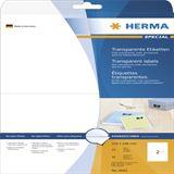 Herma 4683 Folie Transparent-Etiketten 14.8x21 cm (25 Blatt (50 Etiketten))