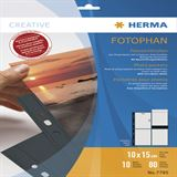 Herma Fotosichthüllen 100 x 150 mm hoch schwarz 10 Hüllen