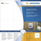 Herma 8047 perforiert nicht klebend Stabile Anhänger 7x14.85 cm (100 Blatt (600 Etiketten))