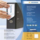 Herma Ordner-Beschriftungsset, Ordneretiketten A4 + Software