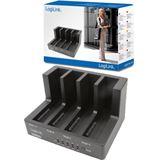 """LogiLink USB 2.0 Kopierstation für 4x 2.5"""" und 3.5"""" Festplatten (QP0021)"""