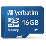 16 GB Verbatim Tablet 44043 microSDHC Class 10 Retail inkl. Adapter