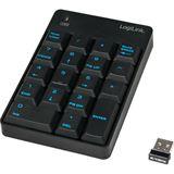 LogiLink Wireless Keypad USB Deutsch schwarz (kabellos)