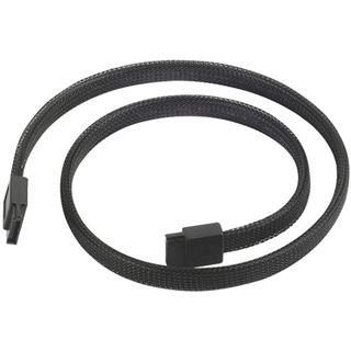 Silverstone SATA III Kabel 50cm - sleeved black