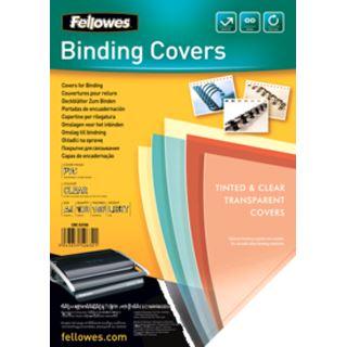 Fellowes Deckblatt DIN A4 PVC transparent 0.18mm 100 Stück