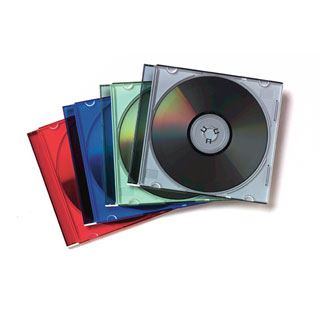 Fellowes CD-Leerhülle Slimline, transparent/sortiert