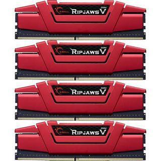 64GB G.Skill RipJaws V rot DDR4-3000 DIMM CL14 Quad Kit