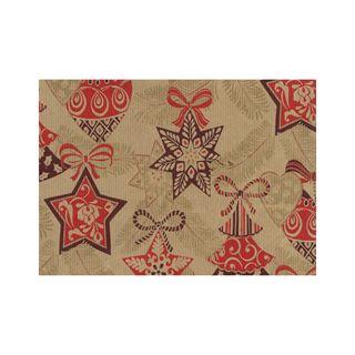 """Susy Card Weihnachts-Geschenkpapier """"Weihnachtsstern"""", Rolle rot"""