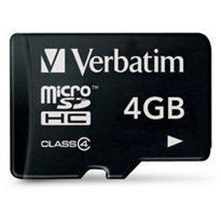 4 GB Verbatim microSDHC Class 4 Retail