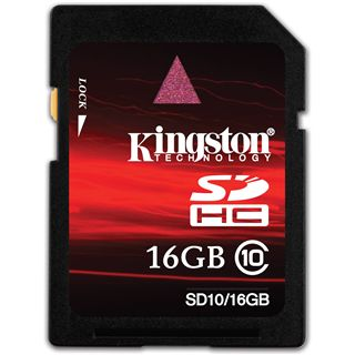 16GB Kingston SD10/16GB Secure Digital SDHC Karte