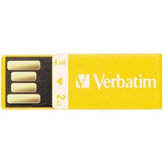 2 GB Verbatim Clip-it USB Drive gelb USB 2.0