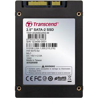 "512GB Transcend SSD 2.5"" (6.4cm) SATA 3Gb/s MLC asynchron (TS512GSSD25S-M)"