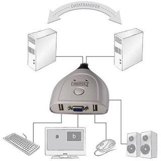 Digitus DS-11404 2-fach Kabel KVM-Switch
