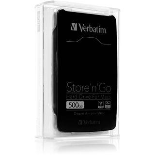 "500GB Verbatim Store and Go Portable for Mac 53042 2.5"" (6.4cm) Firewire/USB 3.0 schwarz"