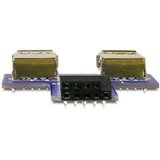 Delock 9pol USB 2.0 Adapter für 2x USB 2.0 Buchse (41824.)