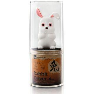 4 GB ICY BOX Rabbit Driver weiss USB 2.0