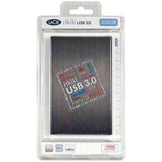 """500GB LaCie Rikiki 301949 2.5"""" (6.4cm) USB 3.0 schwarz/alu"""