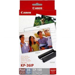 Canon KL-36IP photo paper inkjet 89x119mm 36 Blatt with ink cassette for CP-100