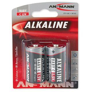 ANSMANN Red-Line LR14 Alkaline C Baby Batterie 1.5 V 2er Pack